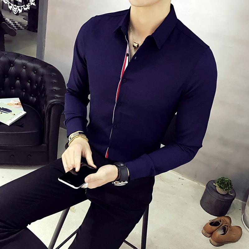 XMY3DWX uomini manica lunga camicia personalità di vendita di marca - Abbigliamento da uomo - Fotografia 5