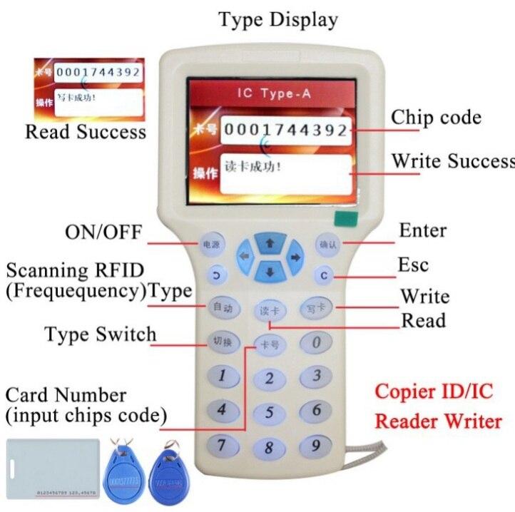 Английская Голосовая версия многочастотный считыватель ID карт IC брелок репликатор IC карта одна Внешняя торговля копировальная машина устр