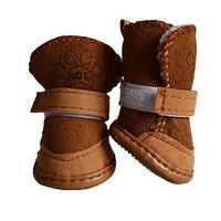 Pet Winter Warm Shoes Boots Puppy Cotton Blend Dog Shoes