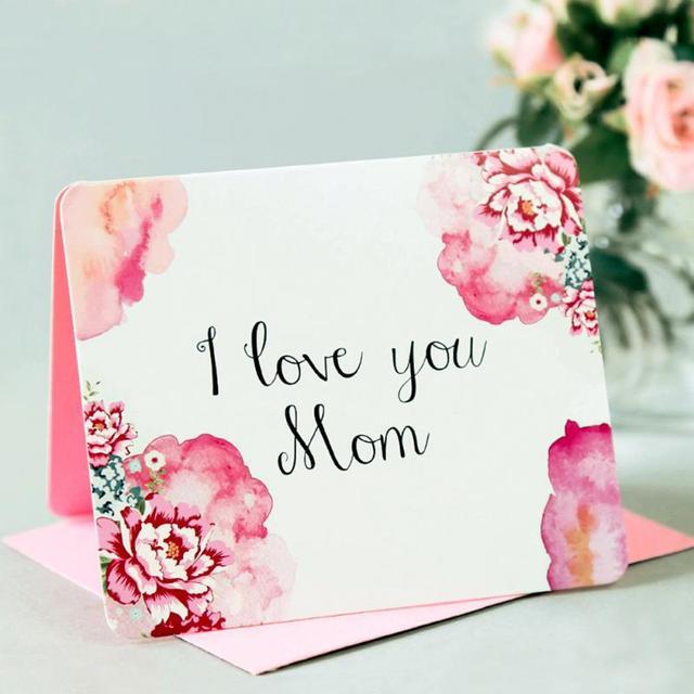 Aliexpresscom Koop Romantische I Love U Mom Bloem Hart Wenskaart