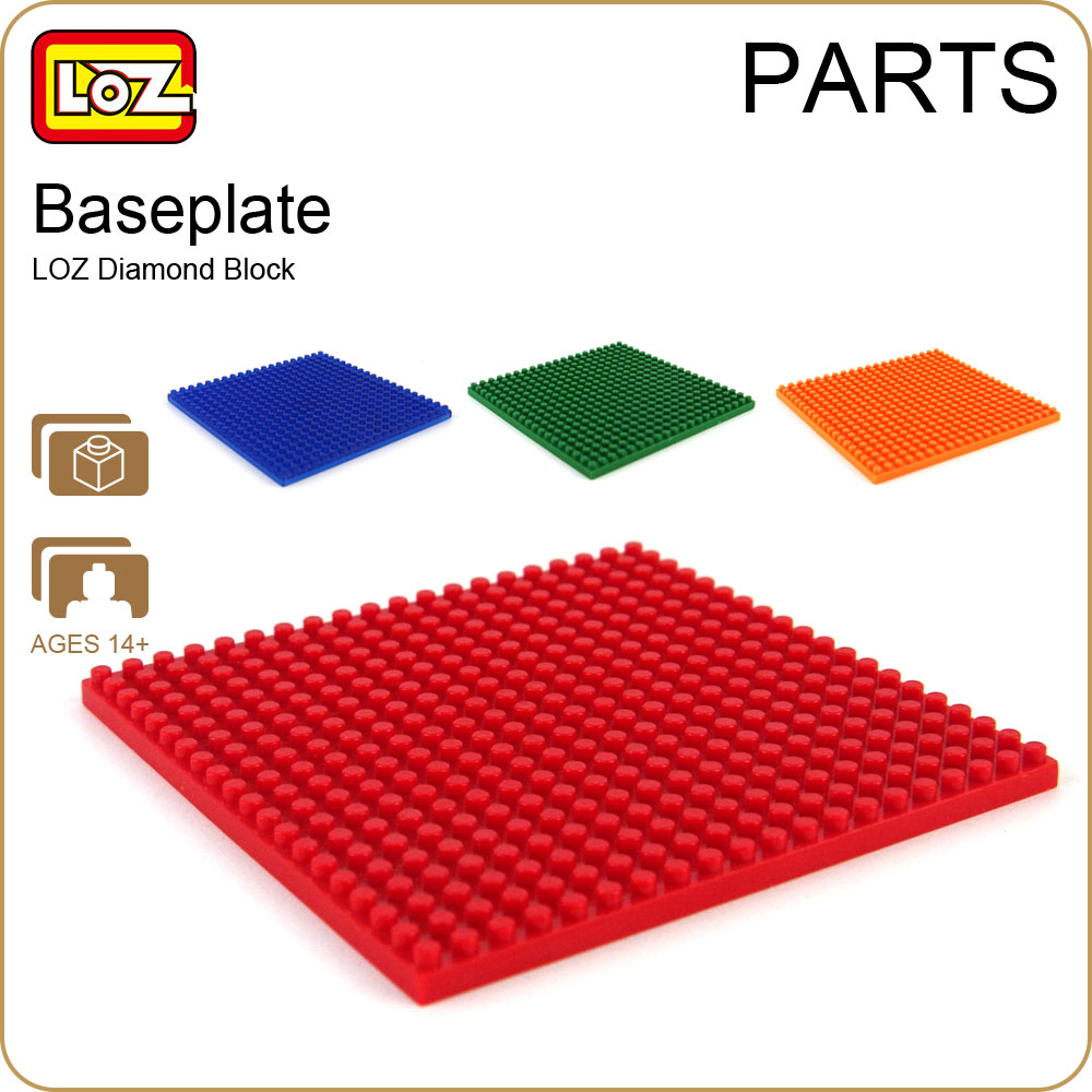 LOZ Diamond Blocks Bricks Mirco Base Plate Bricks Parts DIY Plastic Assembly Toys for Children Educational Baseplate Block 9901 32 32 dots plastic bricks the island straight crossroad curve green meadow road plate building blocks parts bricks toys diy