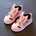 Cute Bunny Children Shoes Girls Boots 2017 Cartoon Rabbit Ear Casual Sneakers Fashion Eyelash Kids Shoes For Girl Princess Shoes