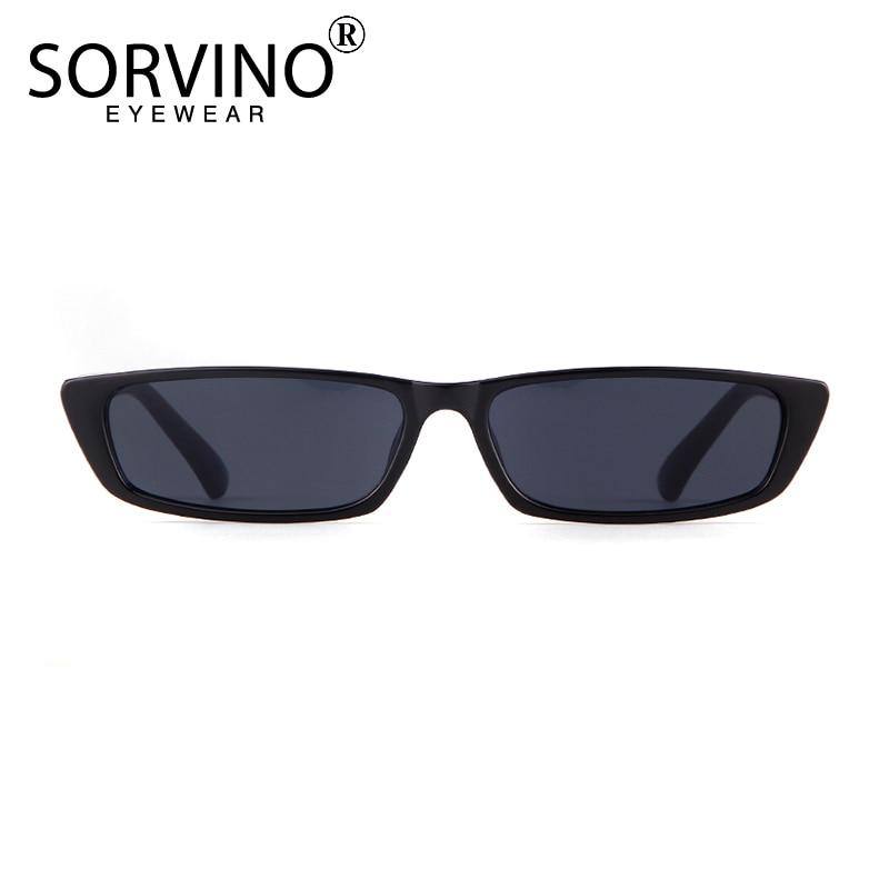 SORVINO Pequeno Estreito do Retângulo Óculos de Sol Das Mulheres Dos Homens  2018 Marca Designer Preto Roxo Vermelho Pequenos Óculos de Sol Shades Oculos  ... 0163df4398