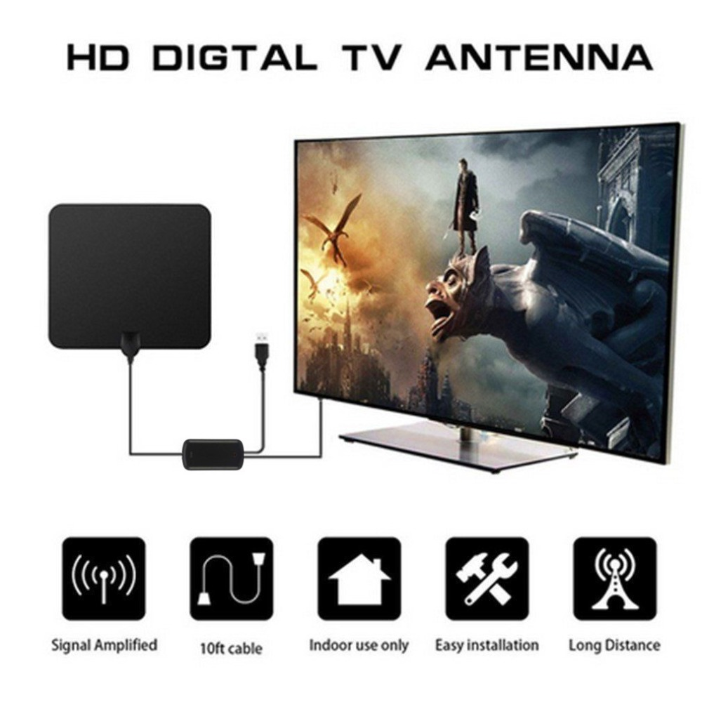 TV Antenna Indoor Digital HDTV Antenna High Gain Amplifier Mini DVB-T2 Aerial Flexible Soft ATSC Receiving Aerial цены онлайн