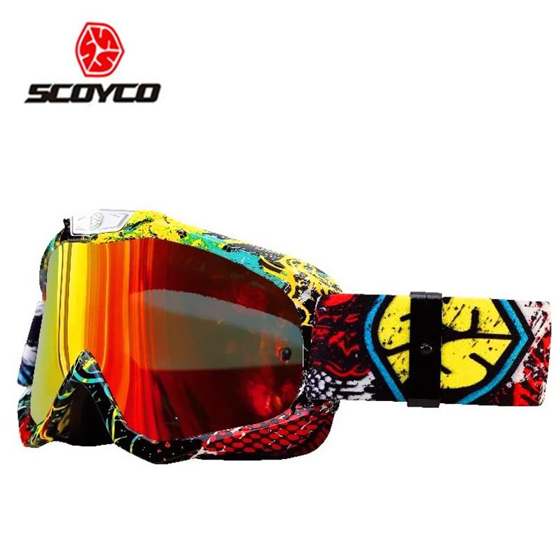 Prix pour SCOYCO G04 Hommes de Femmes de Ski Lunettes Moto Motocross Racing Casque Lunettes Coupe-Vent Anti-brouillard Lunettes De Protection