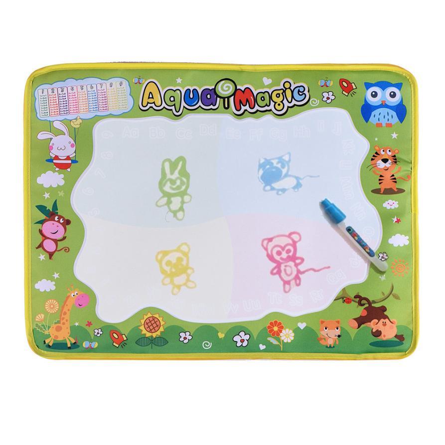 Новый воды Рисунок Живопись Написание Коврики плате Magic Pen Doodle Baby Дети игрушка в подарок 48*36 см оптовая продажа