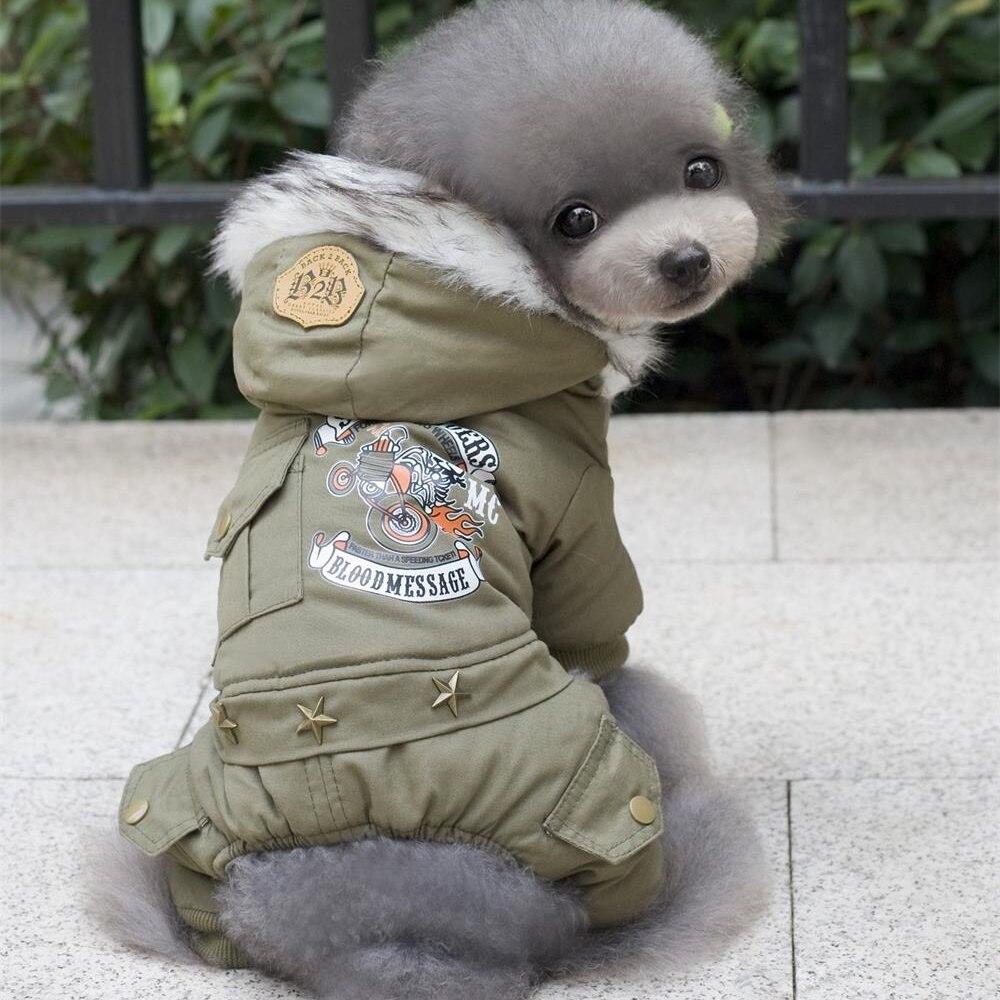 Pet Kleidung Neue Winter Warme Hund Mantel Overall Hoodie Verdicken Baumwolle-Gepolsterte Haustier Kleidung Für Teddy Hunde Kostüm Katze hund Kleidung