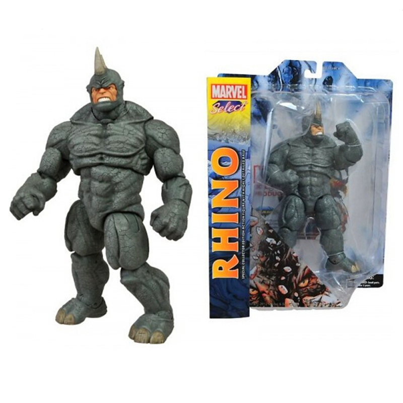 "Brinquedo <font><b>Marvel</b></font> <font><b>Select</b></font> The Amazing Spider-Man 2 <font><b>Rhino</b></font> <font><b>Action</b></font> <font><b>Figure</b></font> Toy 9""23cm E38"