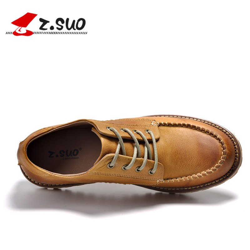 Laçage Main yellow Automne Z Brosser Hommes Black Chaussures coffee Cuir Mode Low Bateau Suo Toe De Top Zs16012 red Véritable Nouveaux Occasionnels ZZpwRnaEq