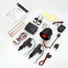 Auto Car Door Kit Sistema de Entrada Sin Llave de Control Remoto de Bloqueo Central de bloqueo Conjunto y Alarma de Seguridad Del Coche de 2 Puertas