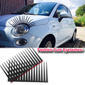 2pcs 3D Charming Black False Car frontlight eyelashes car light decoration car sticker Funny Decal For Beetle Free Shipping
