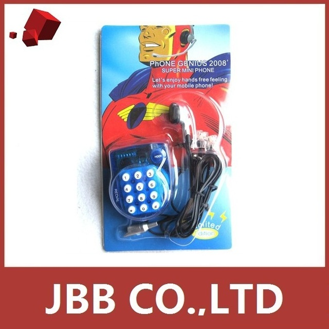 Mini Handsfree Home Telephone for Magic Jack Skype Corded Phone Microphone Blue Lot Wholesale New Hot Sales