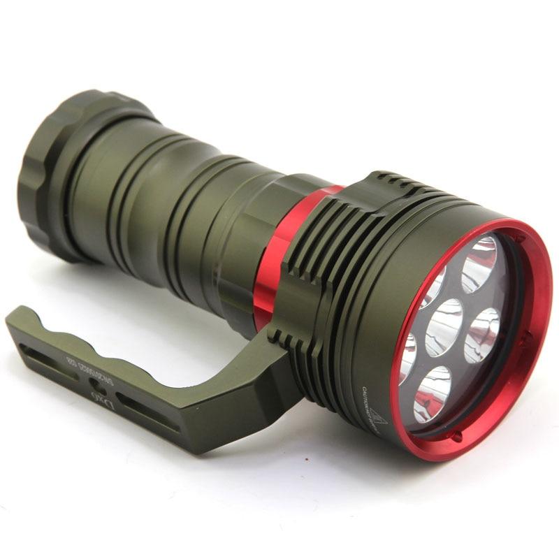 10000 люмен подводный фонарик 6x XM L2 СВЕТОДИОДНЫЙ Фонарь ручной фонарь с 4 батареями и зарядным устройством - 3