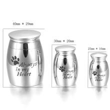 Paw Print Hold Dog/ Cat Ashes Urn Casket -