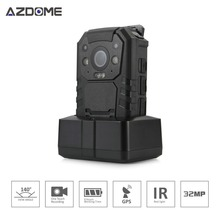 Ambarella A7LA50 Police Hands Free Body Worn Camera Full HD 2304*1296P 30fps IR Night Vision 2 inch LCD 32GB Built-in GPS BC01