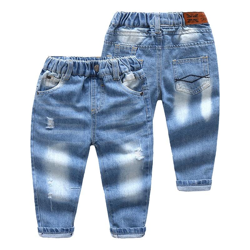 New Brand Boys Jeans Antumn Fashion Holes Kids Denim Pants ...