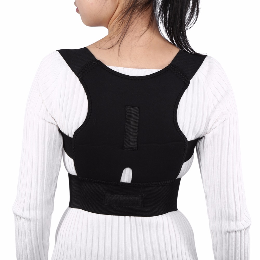 FREE SHIPPING Adjustable Back Brace Posture Corrector Spinal Lumbar Support Belt Adults