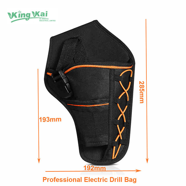 Strong Tools Bag Durable Waterproof Oxford Cloth Eletric Drill Wrench Bag with Waist Belt for Electrician Pockets
