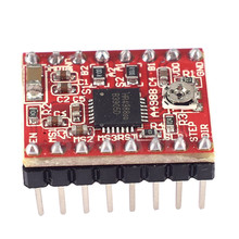 цена A4988 laser cutter Stepper Motor Driver Module Reprap Stepper Driver for laser engraving machine