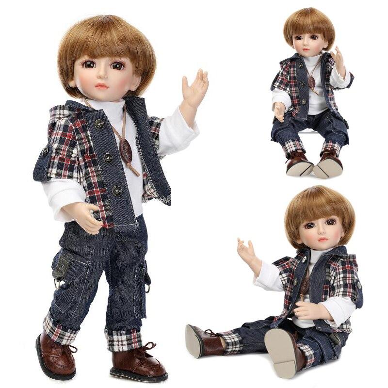 45 CM realistyczne CowBoy lalki patrząc pod amerykański chłopiec książę lalki dla dzieci 18 Cal bezpieczne pełne winylu lalek dla dzieci prezent NPK COLLRCTI w Lalki od Zabawki i hobby na  Grupa 1