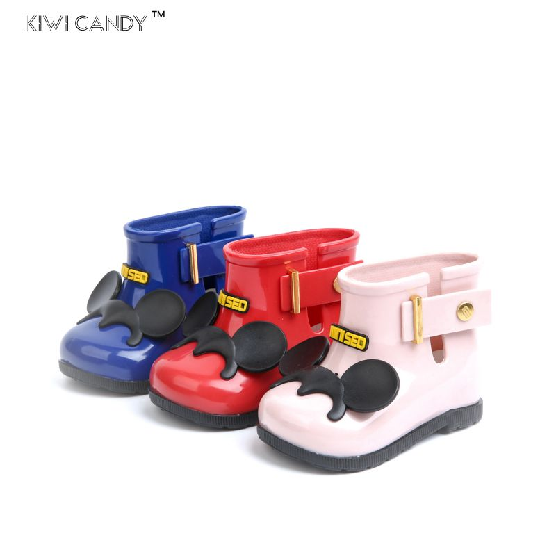 girls boys rain Boots shoes cartoon bow-knot candy smell Jelly shoes baby todder fashion boots shoes non slip waterproof Sapato