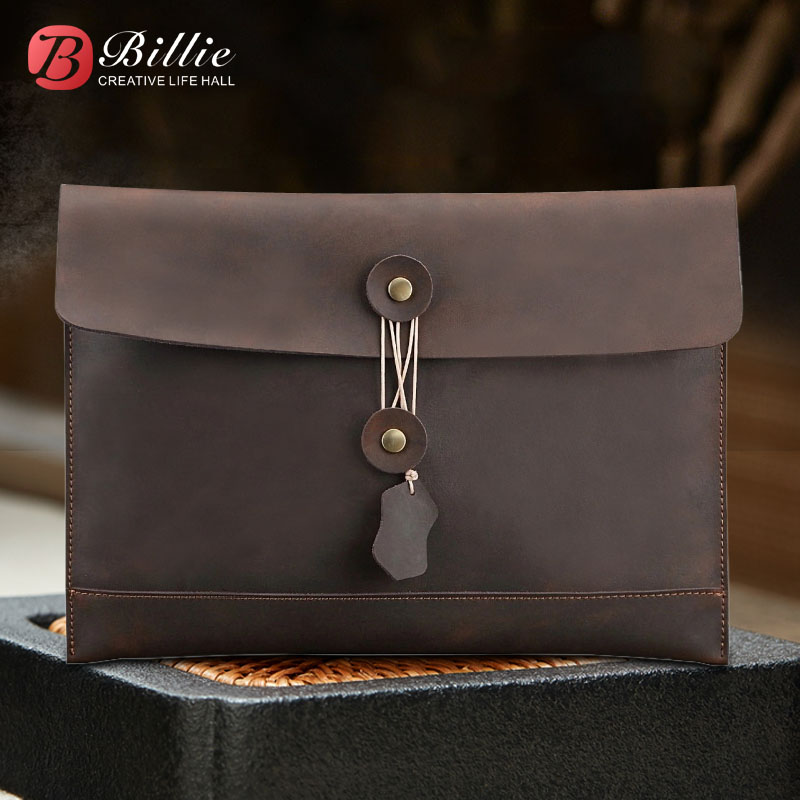 Billie Laptop sleeve For macbook pro 13 case Handmade Genuine Leather for macbook air 11 12 13.3 pro 15 laptop with pouch jisoncase laptop sleeve case for macbook air 13 12 11 case genuine leather laptop bag unisex pouch for macbook pro 13 inch cover