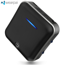 Wearpai Bluetooth V5 Transmitter/Receiver, Wireless Audio Adapter Optical Toslink&SPDIF 3.5mm Audio adapter for TV, car, mobile недорого