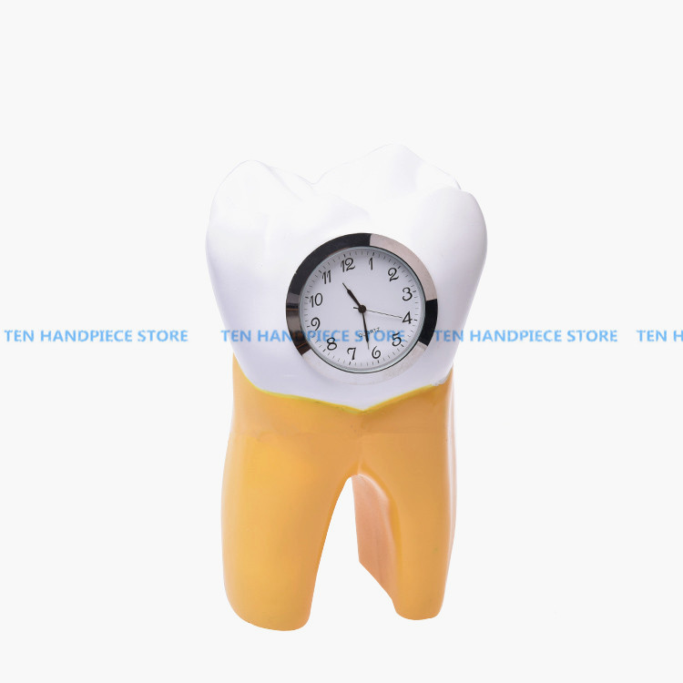 2018 Dental Tooth Clock resin handicraft Dentist Gift Resin Crafts Dental clinic decoration furnishing articles Creative Artwork dentist gift resin crafts toys dental artware teeth handicraft dental clinic decoration furnishing articles creative sculpture