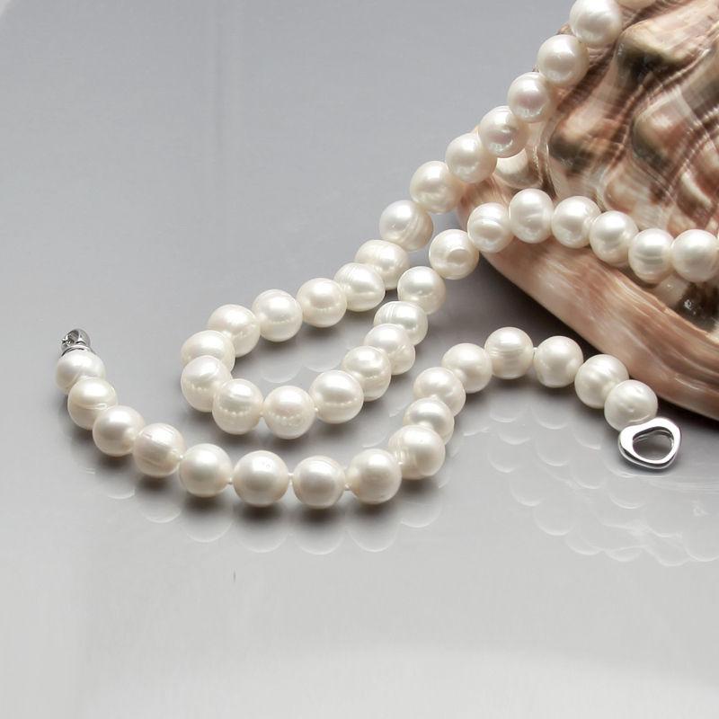 100% Selling Picture full sets 9 10mm beautiful white black fresh water pearl nekclace bracelet