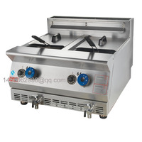 Directly Factory Price 24L Double Tank Double Basket Fish Chicken Donut French Fries Gas Deep Fryer