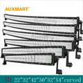 """Auxmart 5D 22 """"32"""" 42 """"50"""" 52 """"54"""" courbe LED light bar 12 v 24 v combo faisceau LED Bar Offroad camping-car camion 4x4 4WD SUV"""