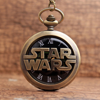 New arrival hollow star wars fiction movie black dial skeleton pocket watch necklace chain watch men.jpg 200x200