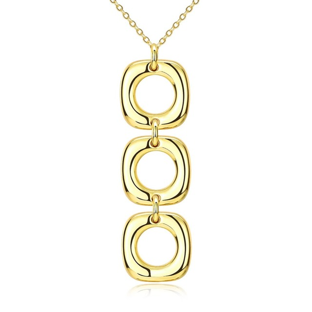 Rose golden necklace three circle pendant necklace beautiful send to rose golden necklace three circle pendant necklace beautiful send to friend for party factory direct sales aloadofball Image collections