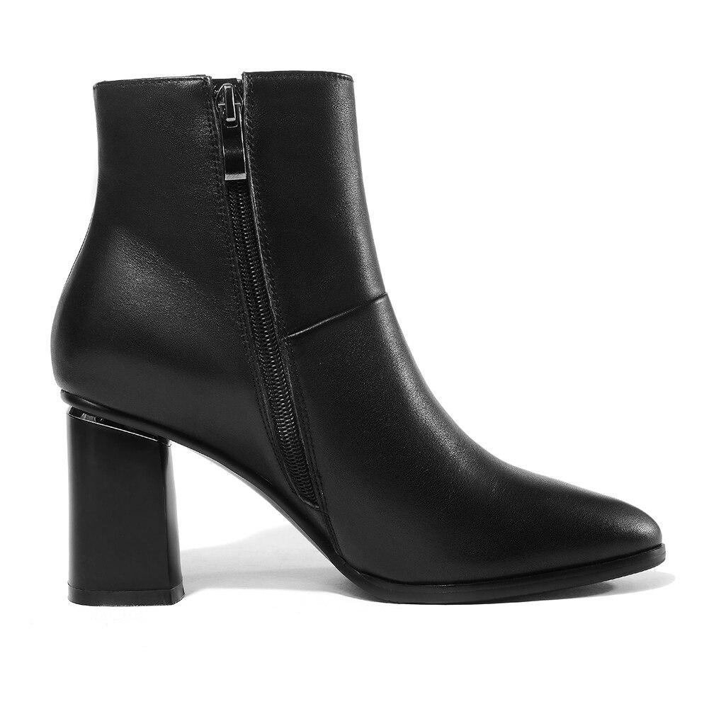 Zip Gros En Cheville La Spéciale Femme Offre Talons Taille Chaussures Cuir 42 rouge Noir Bottes Chunky Up Lapolaka Vache Plus 34 UZwTqT