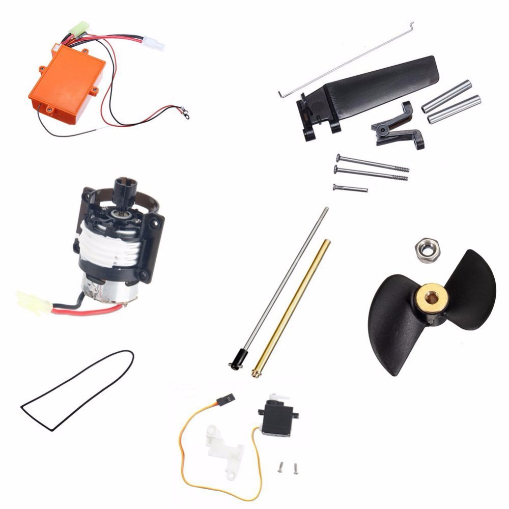 ФОТО F15718-A Feilun Ft009 Kit Steering Rudder Assembly + Cooling System + Receiver Plate Drive Assembly Cartridge Assembly