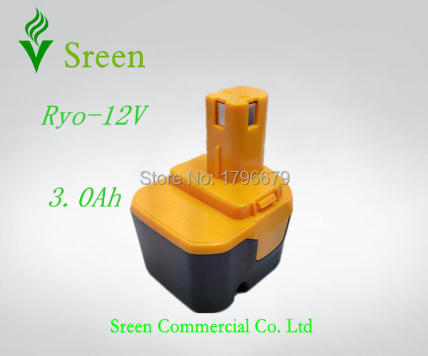 New 3000mAh Rechargeable 12V NI-MH Replacement Battery Packs for Ryobi Power Tool Battery 1400143 1400652 1400670 4400005 B-8286