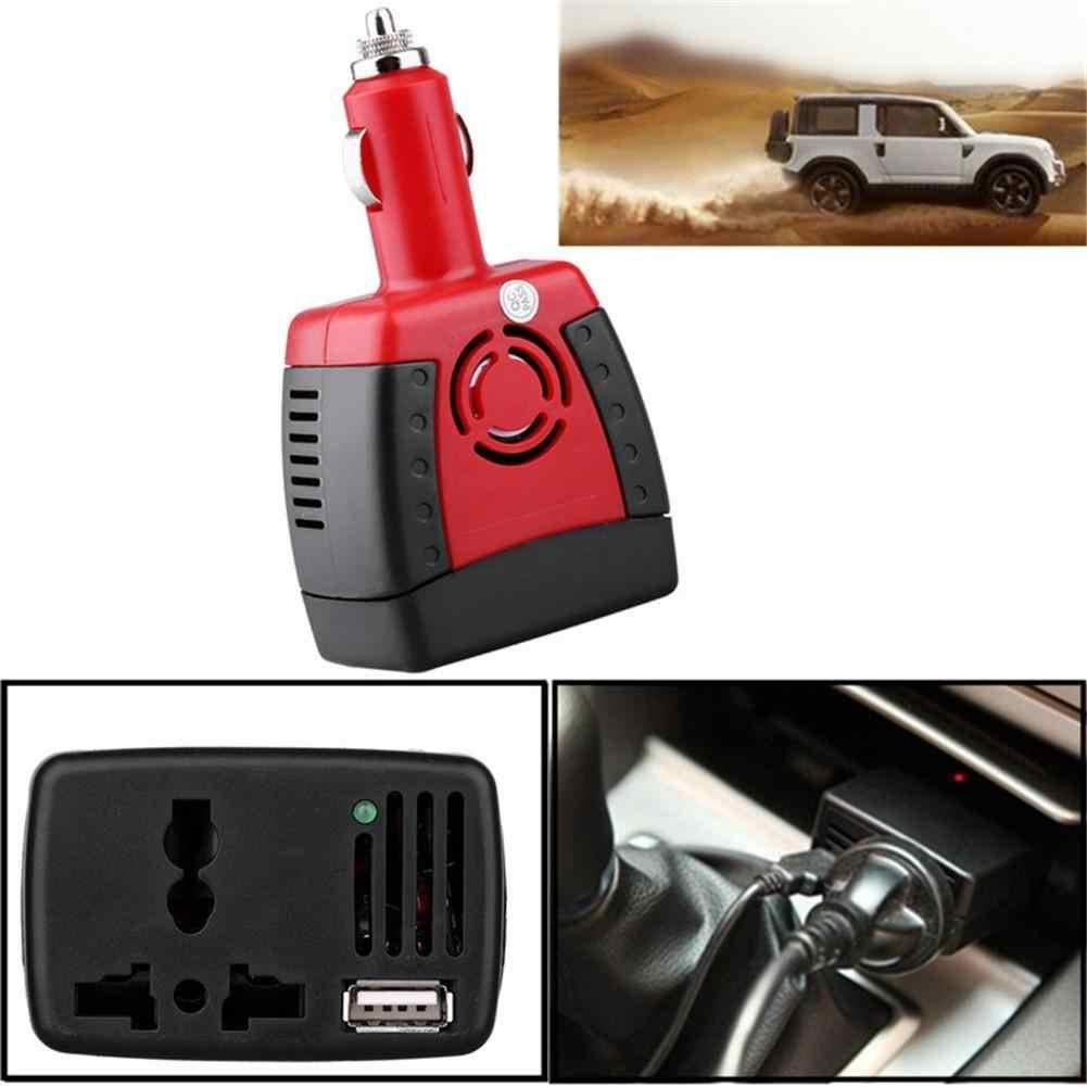 Inversor de corriente para coche USB 2.1A 75w cc 12V CA 220V 50HZ Adaptador convertidor con encendedor cargador de coche para teléfono portátil