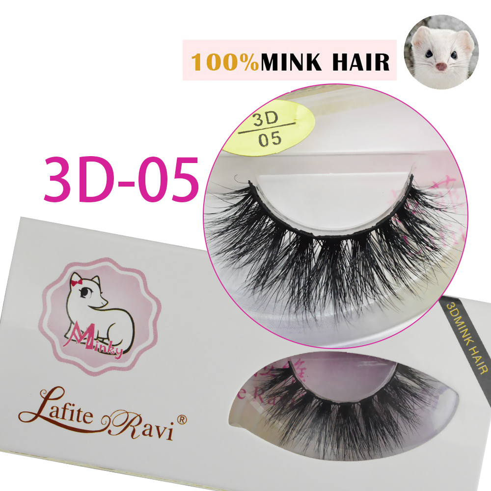 71b5dc26bc2 New 1 pair/lot 3D mink eyelash wholesale Lilly 100% real mink fur Handmade  crossing lashes 3D 05 individual strip thick lash-in False Eyelashes from  Beauty ...