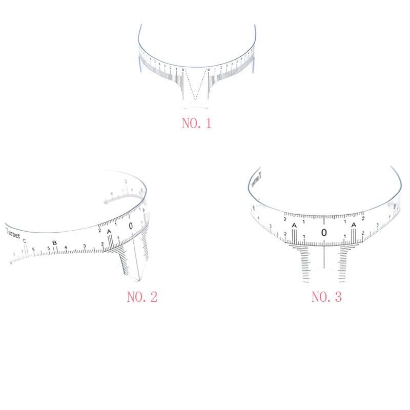 KMC Eyebrow Grooming Stencil Shaper Ruler Measure Tool Makeup Reusable Measures disposable sticker