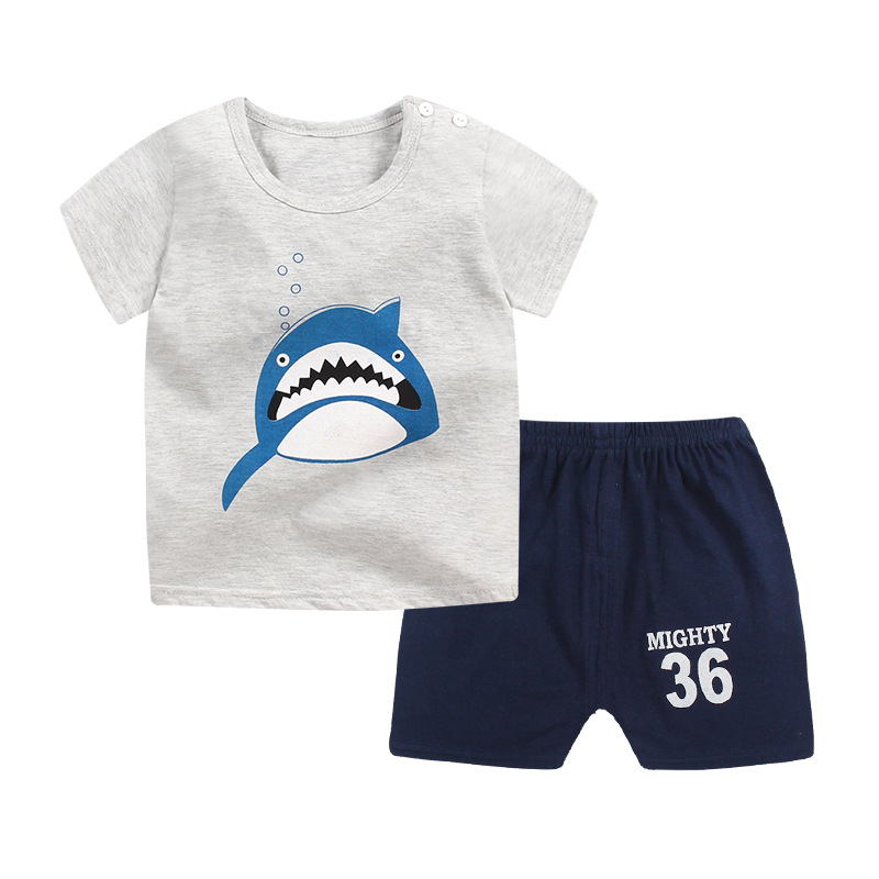 childend clothes 2018 summer Baby boys clothes cotton Cartoon T sleeve+pant 2pcs Casual kids clothes Boy Clothing set 1-4year 2017 newborn baby boy clothes summer short sleeve mama s boy cotton t shirt tops pant 2pcs outfit toddler kids clothing set