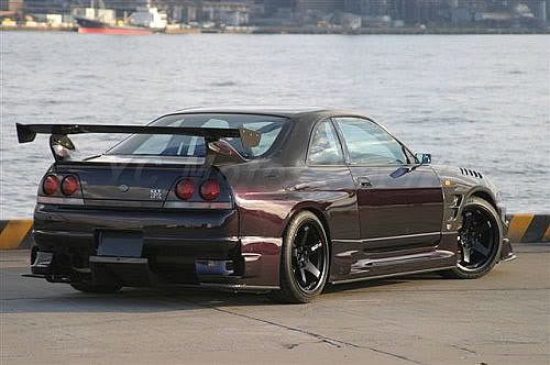 Car Accessories Carbon Fiber Bee R Style GT Wing Fit For 1995 1998 R33 GTR GTS Rear Spoiler Trunk Wing