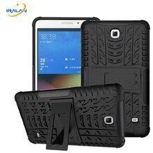 2017 Nuevo caso al por mayor Para Samsung Galaxy Tab 4 7.0 SM T230 T235 Kickstand Impacto Híbrido de Servicio Pesado Resistente Cubierta de La Tableta 3 en 1