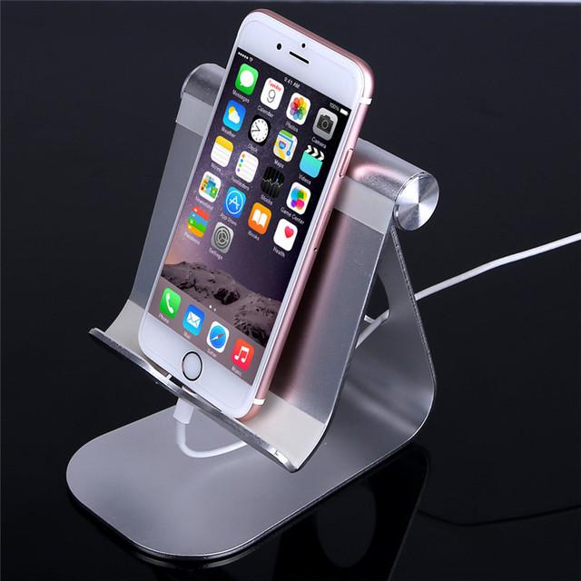 Prima Universal De Aluminio Ajustable Plegable del Sostenedor Del Soporte Del Teléfono Smartphone Soporte de Escritorio Para El Teléfono Del Soporte Del Teléfono para el iphone 6 S