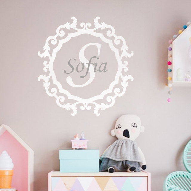 Personalized Baby Name Wall Stickers Modern Nursery Wall Decal Wall Tattoo Custom Name Monogram Home Decor & Personalized Baby Name Wall Stickers Modern Nursery Wall Decal Wall ...