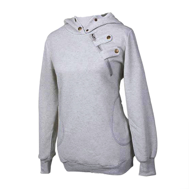 Women Hooded Sweater Pullover Casual Coat Blouse Tops Jacket 3-COLORS