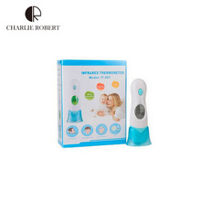Hot Infant Multifunctional electronic thermometers Baby fever daily Health care LCD electronic forehead ears Thermometer HK244