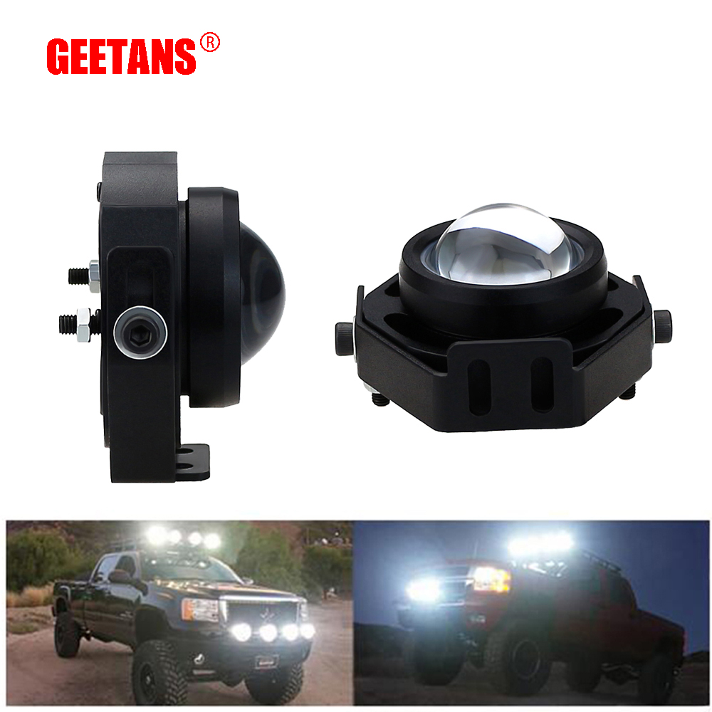 GEETANS 2pcs/Lot Car Spot/Flood Worklight Head Lamp Truck Motorcycle Off Road Fog Lamp Tractor Car LED Headlight Work Lights BH stereo microscope 1 2ctv ccd camera interface electronics interface c interface electronic eyepiece interface