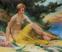 wall art modern Nude at the Beach Guillaume Seignac Paintings Hand painted High quality