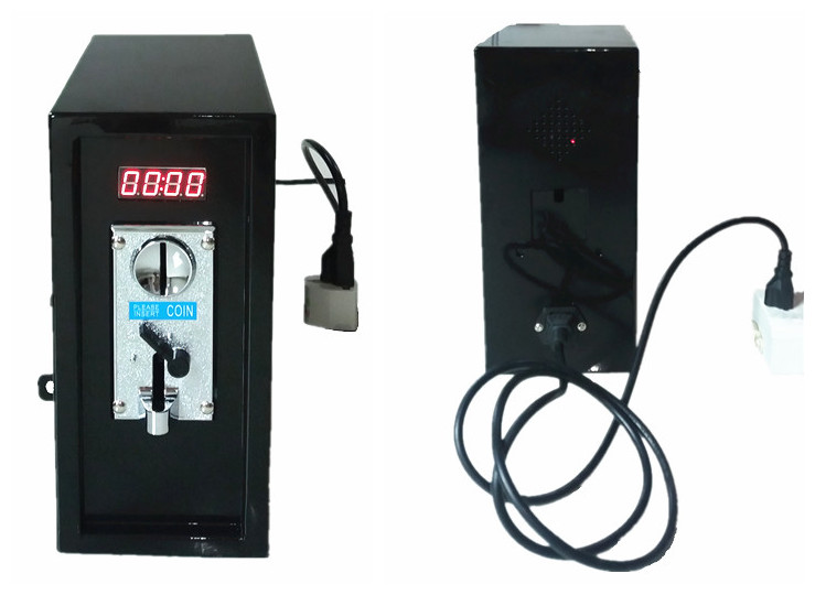 110V or 220V coin operated Timer Control Board Power Supply box with Plastic front plate of coin acceptor, lock, and keys coin operated timer control power supply box to control 220v 240v washing machine electronic device