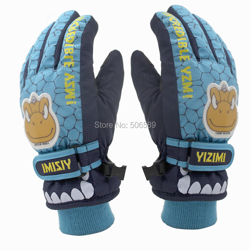 free shipping childrens skiing gloves hiking biking gloves yb1201-w